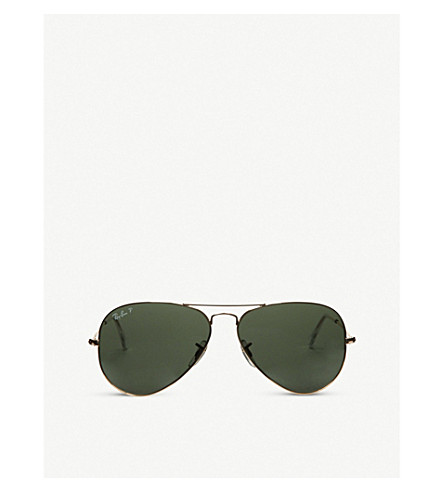 RAY-BAN Original aviator metal-frame sunglasses RB3025 58 (Arista