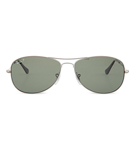 RAY-BAN Original aviator gunmetal-frame sunglasses RB3362 59 (Gunmetal