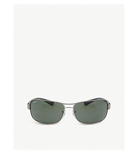 c5f06389f8 RAY-BAN Gunmetal rectangle sunglasses RB3379 64 (Gunmetal
