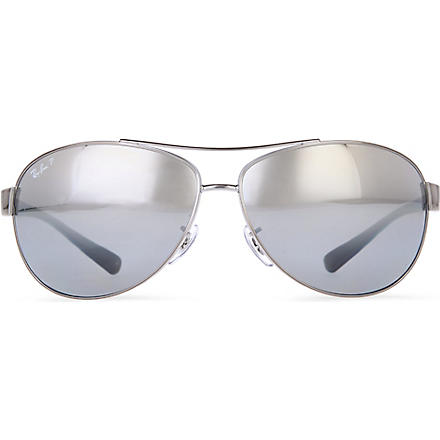 RAY-BAN Aviator polarized sunglasses (Gunmetal