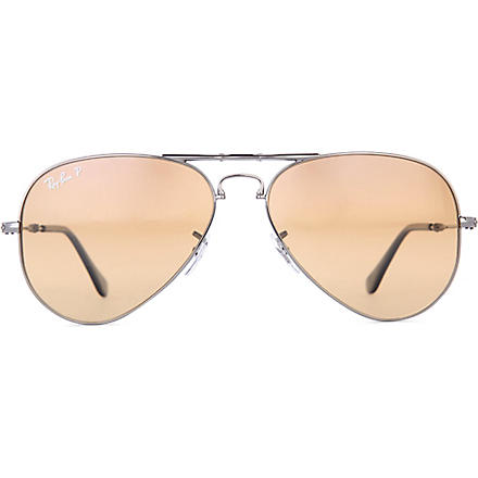 RAY-BAN Aviator folding sunglasses (Gunmetal