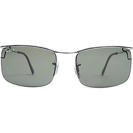 RAY-BAN Square-frame sunglasses (Gunmetal