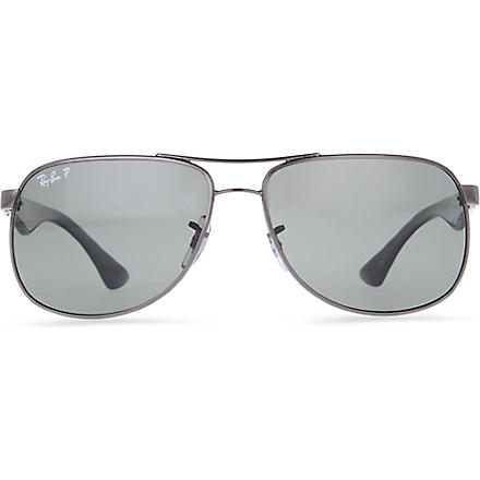 RAY-BAN Lifestyle metal-rimmed sunglasses (Gunmetal