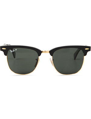 RAY-BAN Folding clubmaster aluminium sunglasses with green lenses RB3507 51