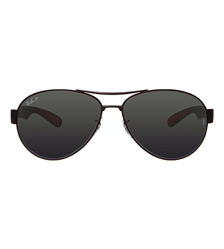 RAY-BAN Matte black aviator sunglasses RB3509 66 (Matte+black