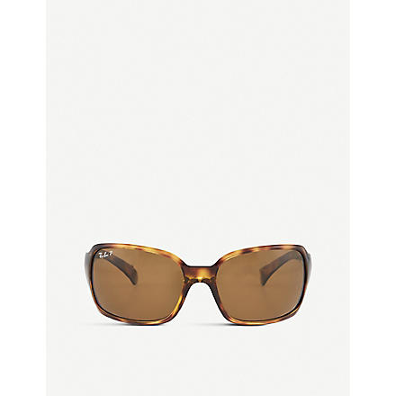 RAY-BAN Havana square sunglasses in tortoiseshell with brown tinted lenses RB4068 61 (Havana
