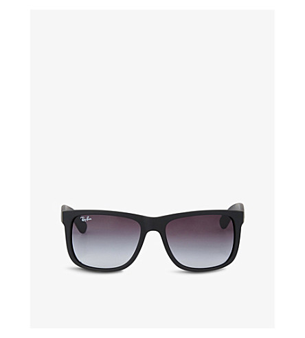 RAY-BAN Black rubberised square sunglasses RB4165 54 (Rubber+black