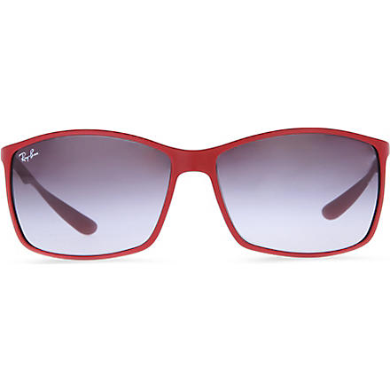 RAY-BAN Tech rectangular sunglasses (Red