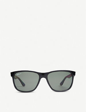 RAY-BAN Black square-frame sunglasses RB4181 57