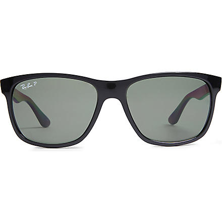 RAY-BAN Highstreet D-frame sunglasses (Black