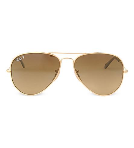 RAY-BAN Original arista aviator sunglasses with brown lenses RB8041 58 (Arista