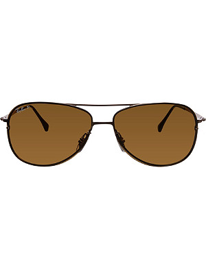 RAY-BAN Brown aviator sunglasses with brown tinted lenses RB8052 61