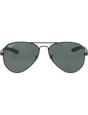RAY-BAN Black aviator sunglasses