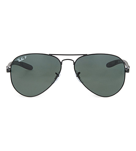 RAY-BAN Black aviator sunglasses (Black