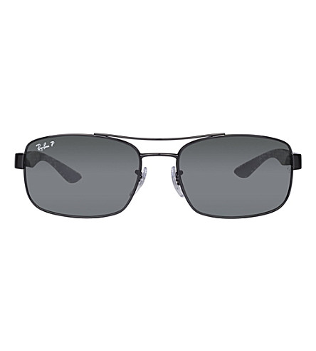 RAY-BAN Black rectangular sunglasses RB8316 62 (Black