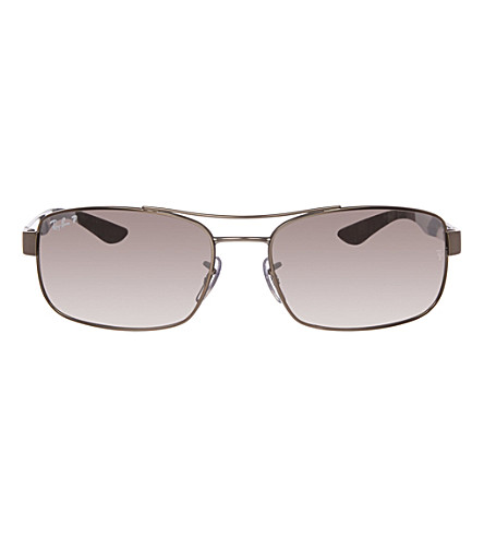 RAY-BAN Matte gunmetal rectangular sunglasses RB8316 62 (Matte+gunmetal