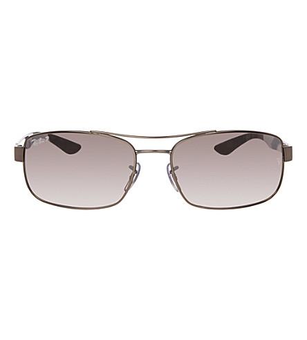 RAY-BAN Matte gunmetal rectangular sunglasses RB8316 62 (Matte+gunmetal