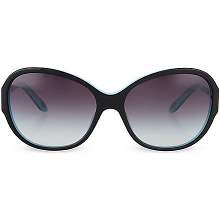 TIFFANY Round flower sunglasses (Top black/blu