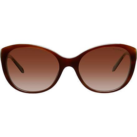 TIFFANY Tiffany Hearts™ cat-eye tortoiseshell sunglasses (Havana/shot/blue