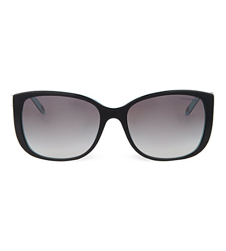 TIFFANY & CO Square sunglasses (Black/blue