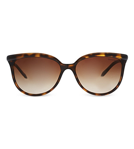 TIFFANY & CO TF4093H Twist™ tortoiseshell sunglasses (Tortoise brown