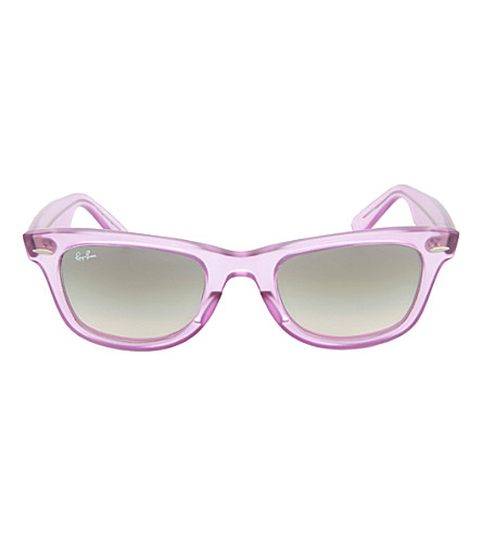 RAY-BAN Demi Gloss Ice Pop Wayfarer sunglasses (Violet