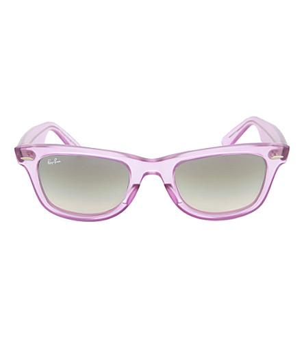 RAY-BAN Demi Gloss Ice Pop Wayfarer sunglasses (Violet