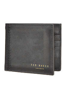 TED BAKER Vachtta bifold polished leather wallet