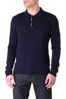 TED BAKER Knitted polo jumper