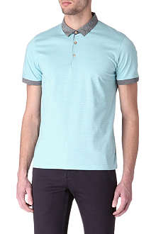 TED BAKER Striped polo shirt