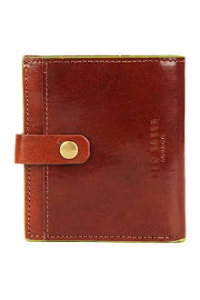TED BAKER Popnun painted edge leather bi-fold wallet