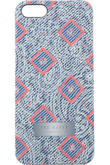 TED BAKER Slimtim diamond-print iPhone case