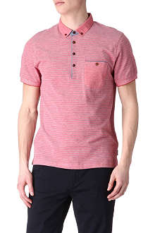 TED BAKER Recess oxford stripe polo shirt
