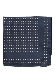 TED BAKER Polka dot pocket square