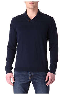 TED BAKER Shawl neck jumper