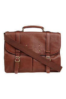 TED BAKER Grained leather briefcase