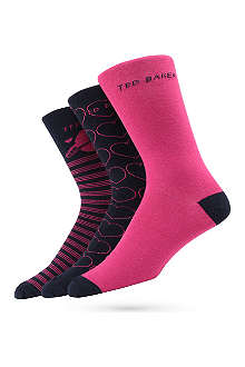 TED BAKER Love Box three-pack sock set