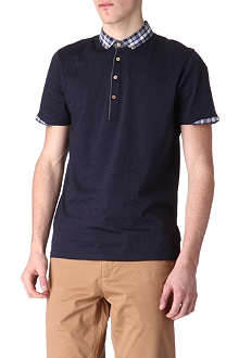 TED BAKER Thebest checked collar polo shirt