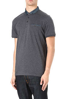 TED BAKER Selsdon woven collar polo shirt