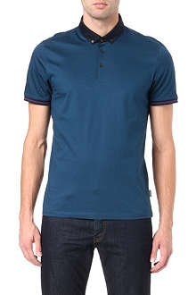 TED BAKER Contrast collar polo shirt