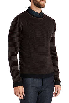 TED BAKER Moseley crew neck knit sweatshirt
