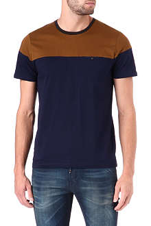TED BAKER Wilcox colour-block t-shirt
