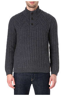 TED BAKER Funnel neck knitted jumper