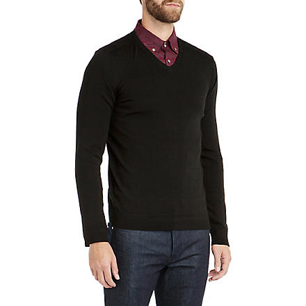 TED BAKER Bagbo merino wool jumper (Black