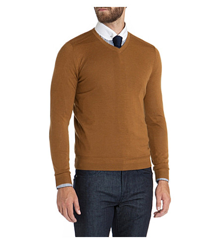 TED BAKER Bagbo merino wool jumper (Mustard
