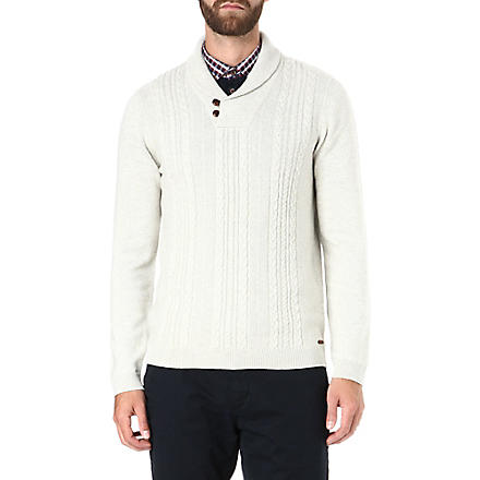 TED BAKER Dunford shawl neck jumper (Cream