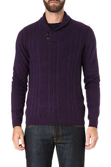 TED BAKER Dunford shawl neck jumper