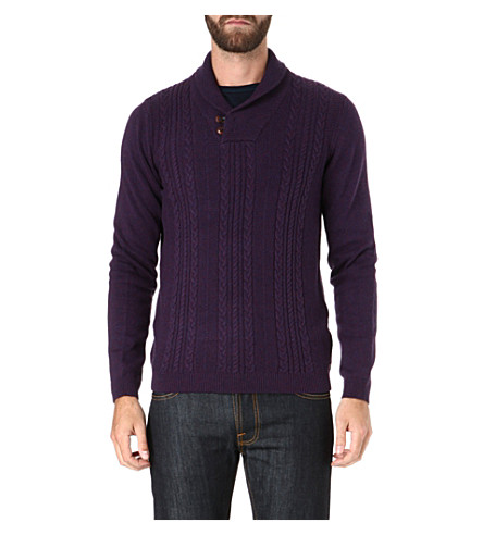 TED BAKER Dunford shawl neck jumper (Purple