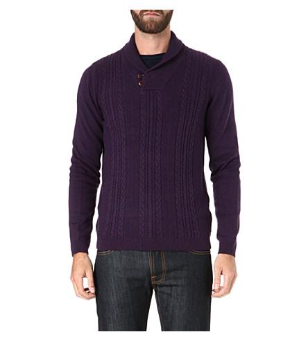 TED BAKER Dunford shawl neck jumper (Purple