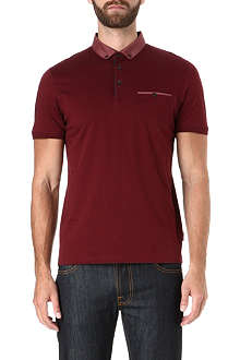 TED BAKER Foxton contrast collar polo shirt